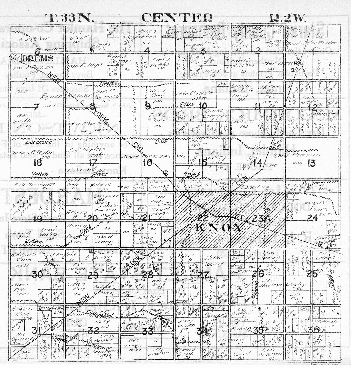 township plat maps.  township plat maps  starke county historical photos  documents